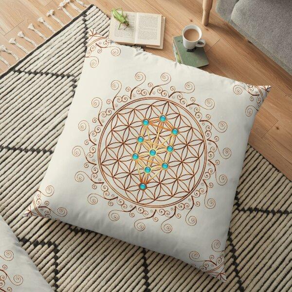 Flower of life, tree of life, sephiroth, sacred geometry Floor Pillow