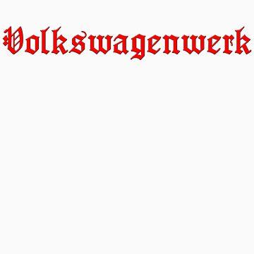 Heavy Red VW Volkswagenwerk by superstarink