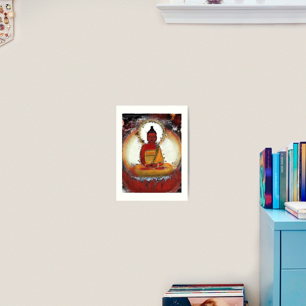 Amitabha - Red Buddha of the West Art Print