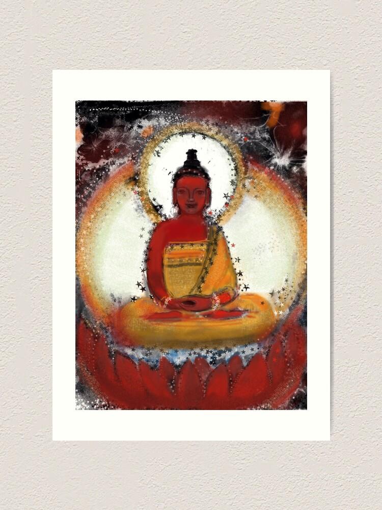 Alternate view of Amitabha - Red Buddha of the West Art Print