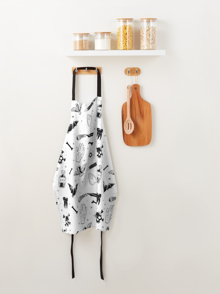 Alternate view of A Few of My Macabre Things (on white) Apron