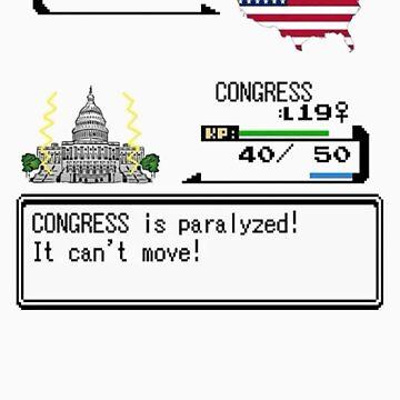 Gov't Shutdown Pokemon Style by prinbra86