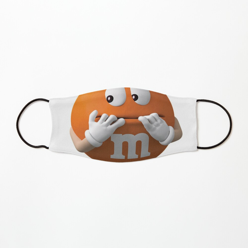m&m's orange Mask