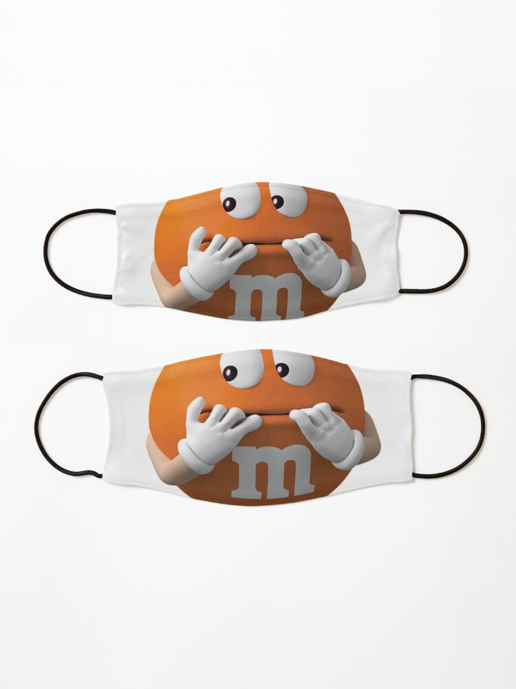 Alternate view of m&m's orange Mask