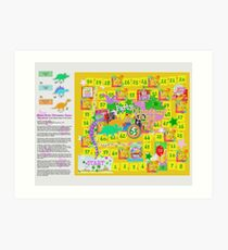 Dinosaur Party Game Board Art Print