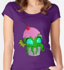 Cupcake Cthulhu Women's Fitted Scoop T-Shirt