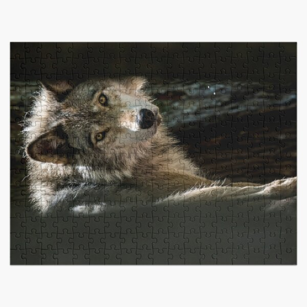 Wolf In Forest Jigsaw Puzzle