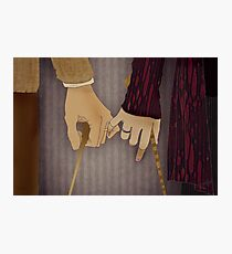 Tonks and Lupin Photographic Print