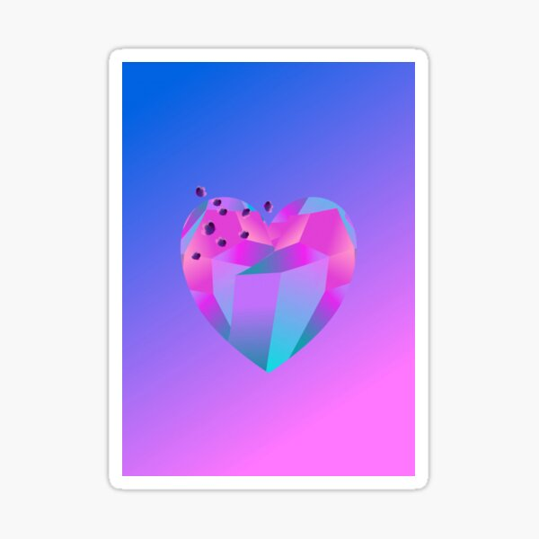 Crystal Heart Sticker