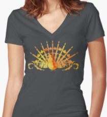 Thanksgivukkah, or Chunuksgiving  Women's Fitted V-Neck T-Shirt