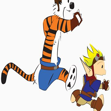 Calvin and Hobbes Jak And Daxter by MikeCotopolis