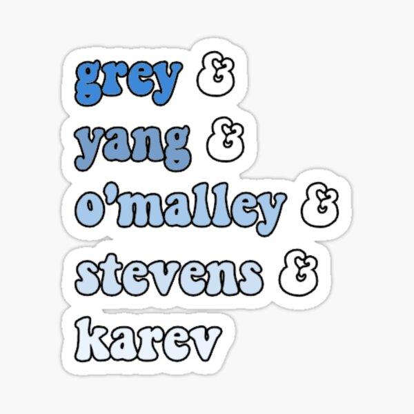 the grey's five :) Sticker
