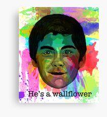 He's a Wallflower Canvas Print