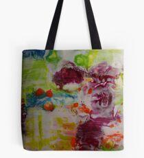 Silk Flowers Tote Bag