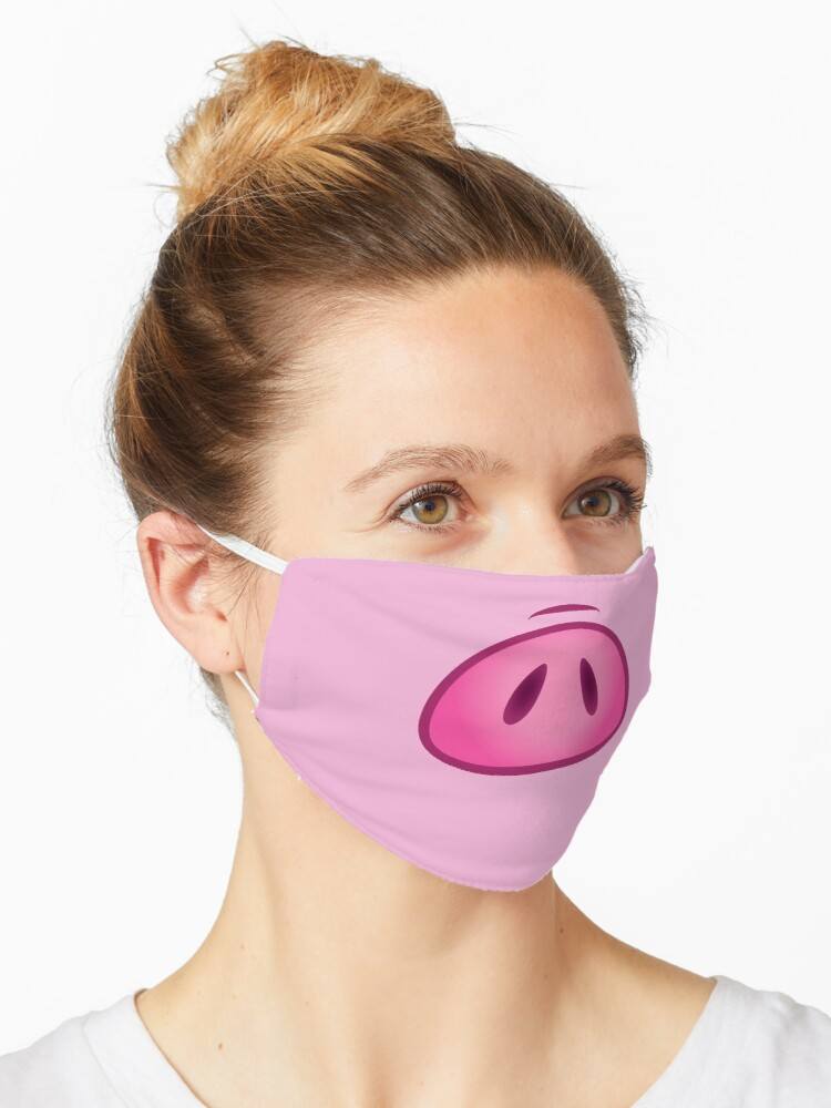 Pig Nose Snout Mask By Danihops Redbubble