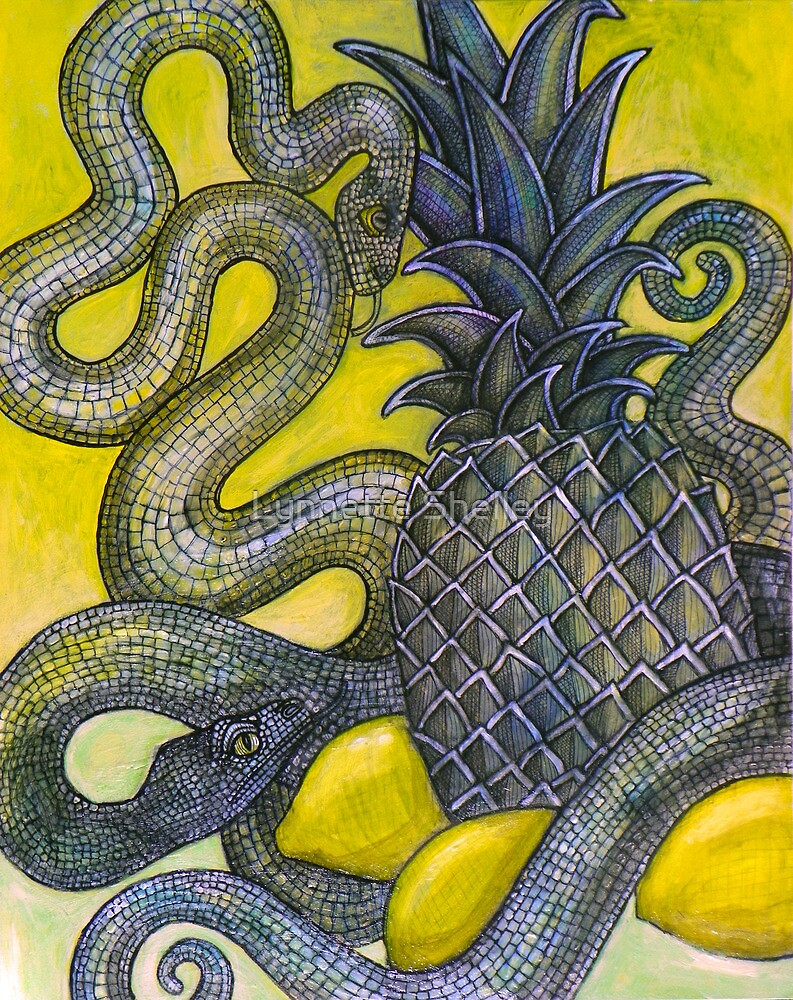 The Sweet and the Sour (Still Life with Snakes) by Lynnette Shelley