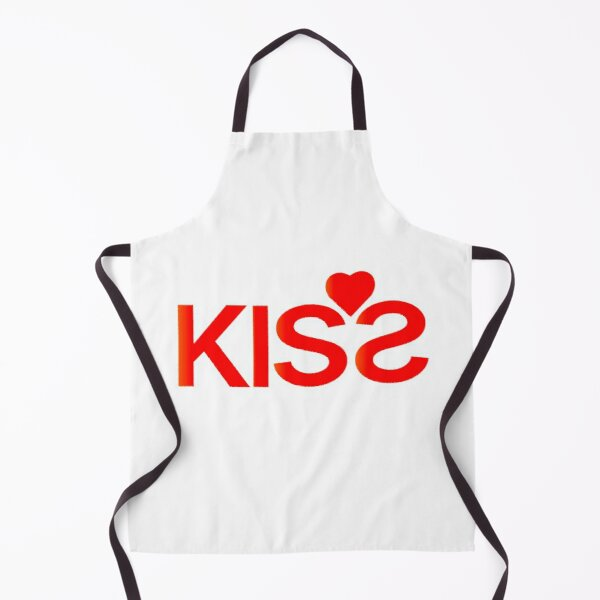 KISS Is an expression of affection & Love Apron