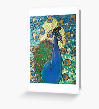 Regalia (The Peacock) Greeting Card