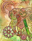 Painted Elephant by Lynnette Shelley