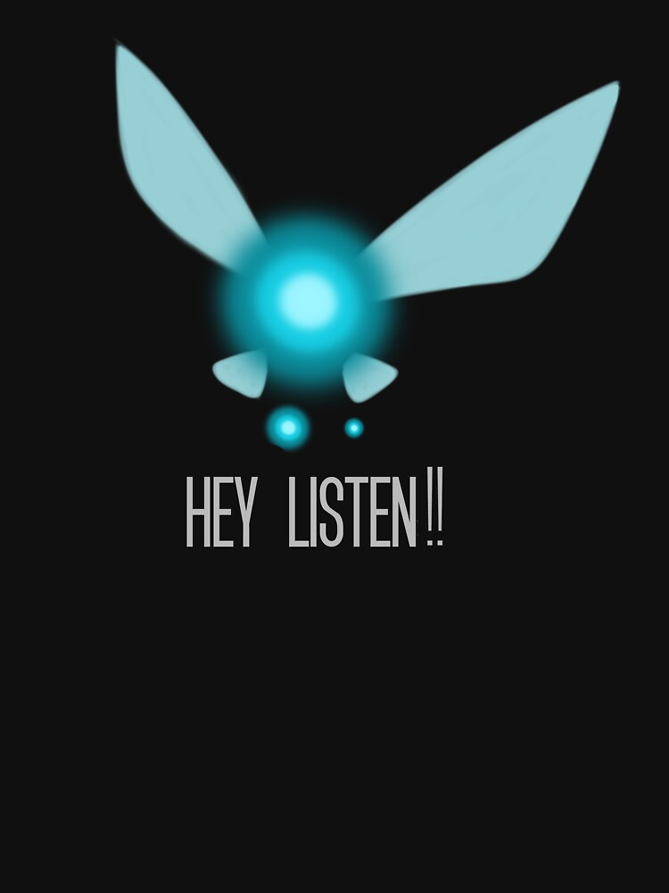 TShirtGifter presents: Navi Hey Listen! (Zelda) | Unisex T-Shirt
