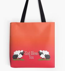 God Bless You with Sheep Tote Bag