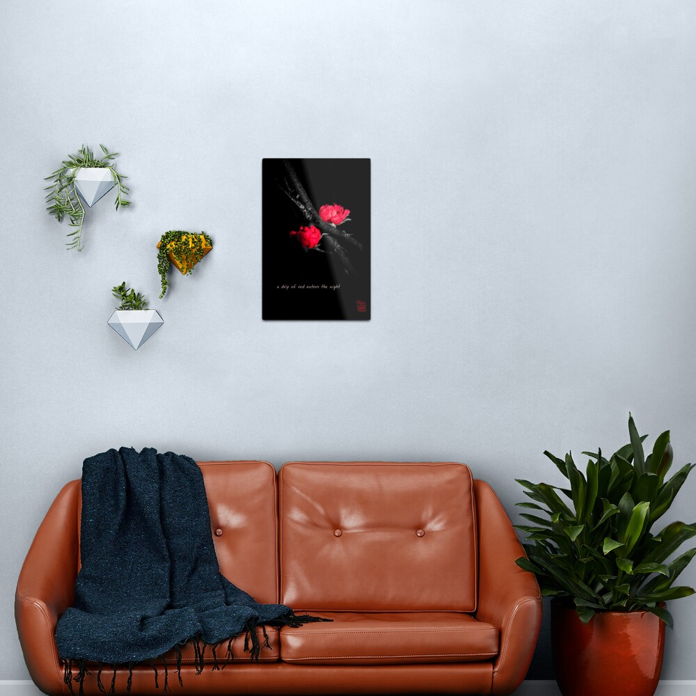 a drip of red Metal Print