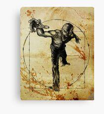 Vitruvian Zombie Unleased Canvas Print