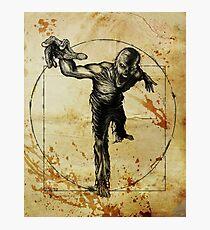 Vitruvian Zombie Unleased Photographic Print