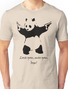 Something for the drive home panda Unisex T-Shirt