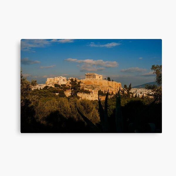 The Parthenon and Athens Cityscape Canvas Print