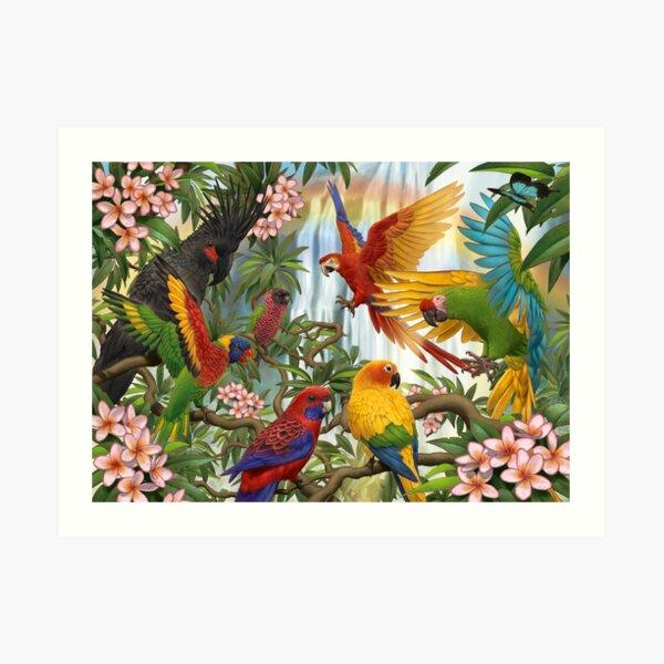 Parrot Rainbow Art Print