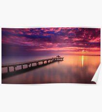 Sunset Lake Neusiedl Poster