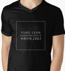 YUNG LEAN: UNKNOWN DEATH 2002 (BLACK) Men's V-Neck T-Shirt