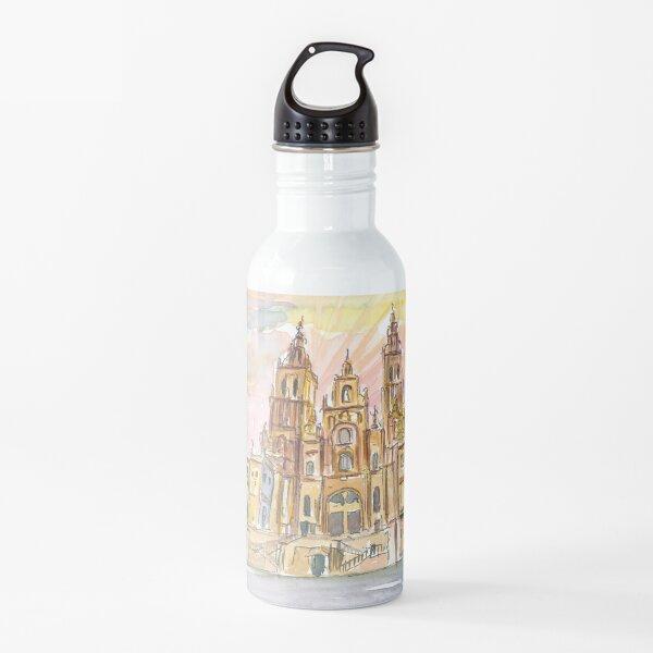 Fin de Saint Jacques Camino en Santiago de Compostela España Botella de agua