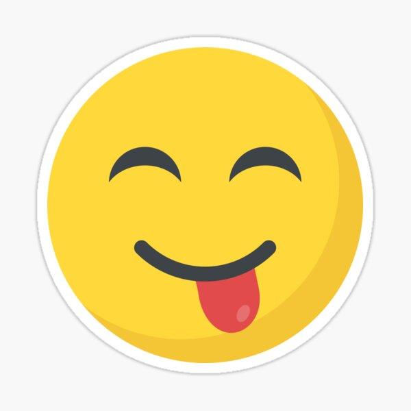 Cara sonriente con la lengua fuera Emoji Pegatina