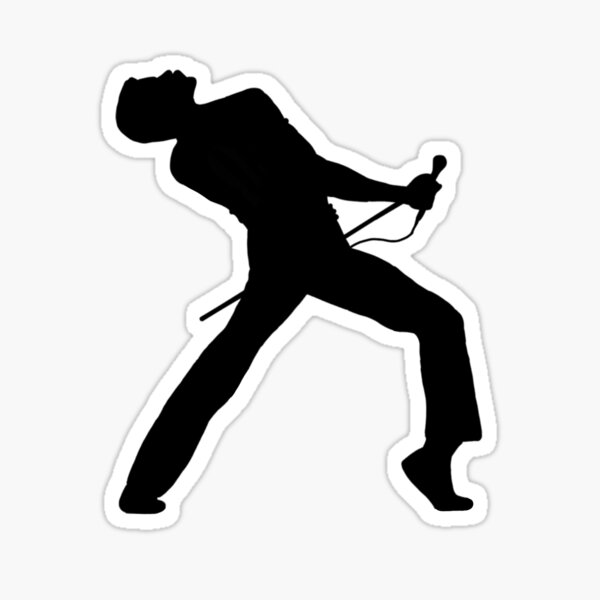 Freddie Mercury Silhouette Sticker