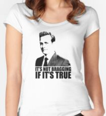 Suits Harvey Specter It's Not Bragging Tshirt Women's Fitted Scoop T-Shirt