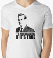 Suits Harvey Specter It's Not Bragging Tshirt Men's V-Neck T-Shirt