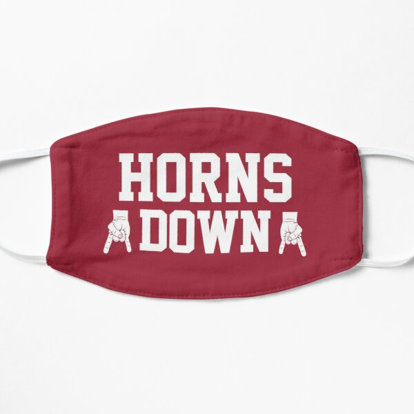 Horns Down - Burgundy/White Mask