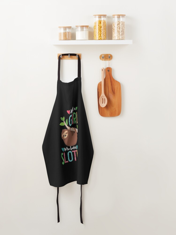 Alternate view of Funny Gift for Sloth Lover Zipper Pouch Apron