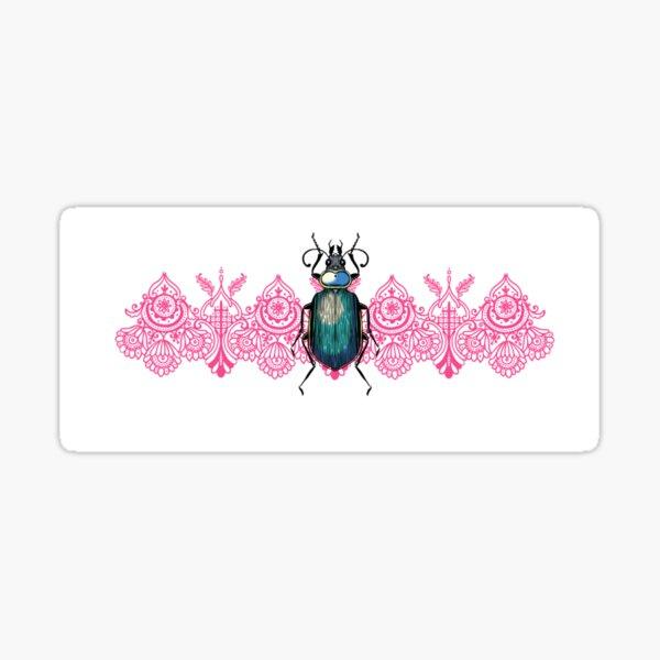 Beetle on lace Sticker