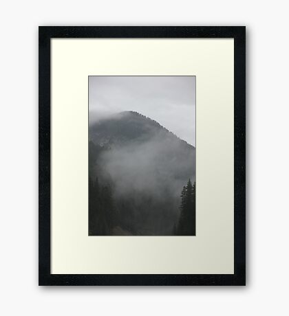 Clouds On The Mountain Peaks Framed Print