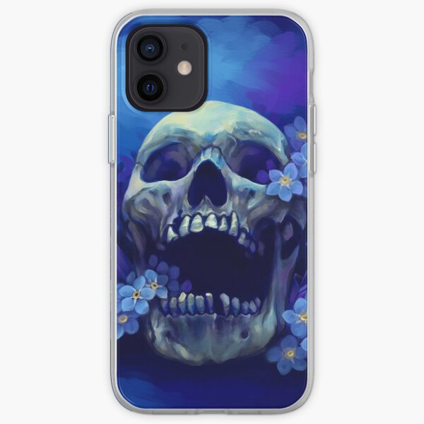 Skull and Forget-me-nots iPhone Soft Case
