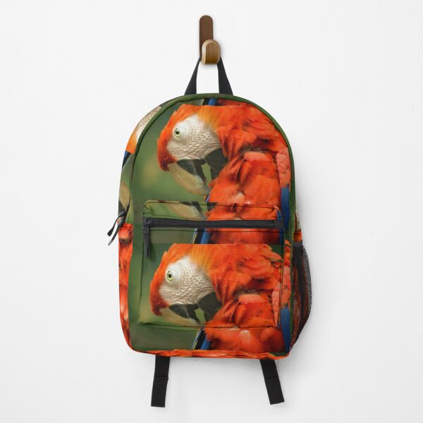 Red Parrot, the Scarlet Macaw – portrait Backpack