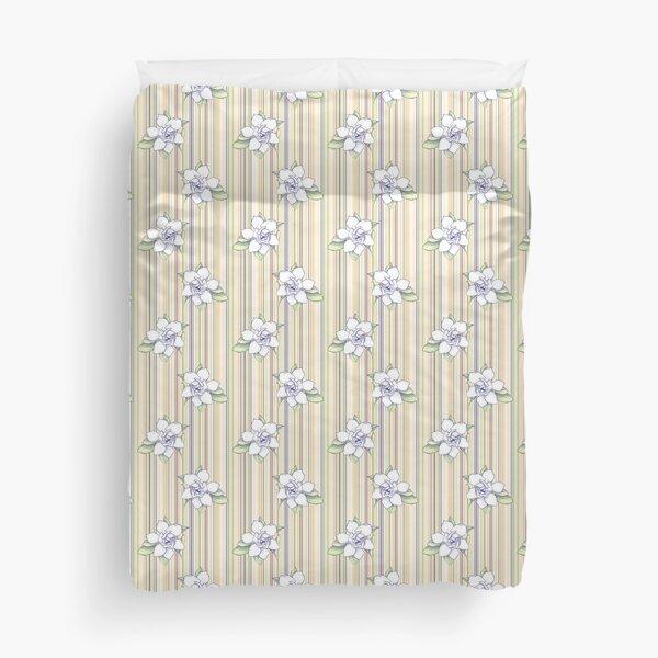 Gardenia Garden Stripe Duvet Cover