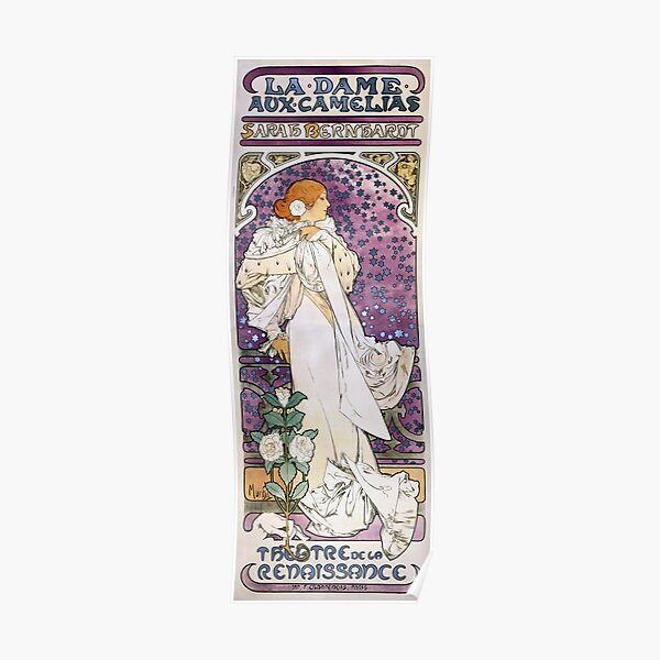 The Lady of the Camellias - Alphonse Mucha - 1896 Poster