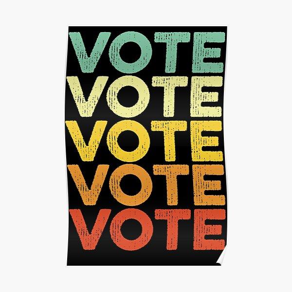 Vote Retro Vintage Election 2020 Voter Poster