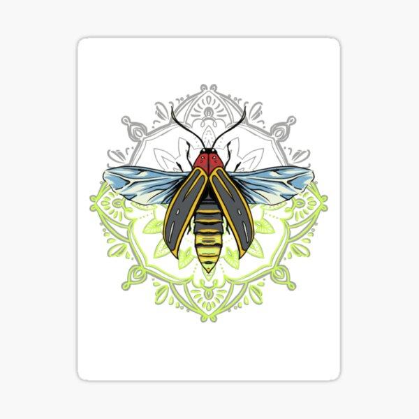 Glowing firefly mandala Sticker