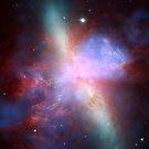 Stunning View of Starburst Galaxy M82 by pjwuebker