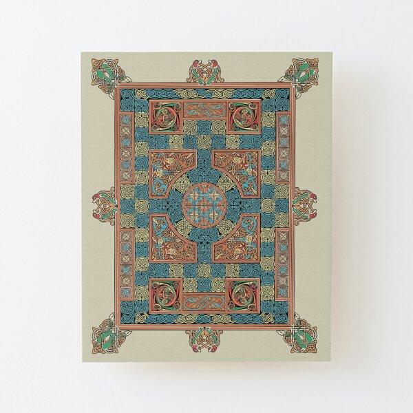 Lindisfarne Gospels Page Wood Mounted Print